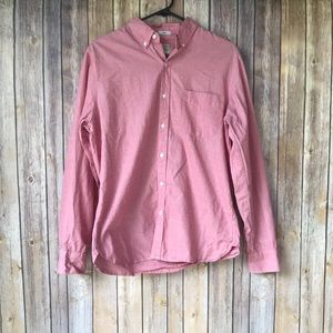 J. Crew Men's Slim Fit Faded Red Button Down Sz M